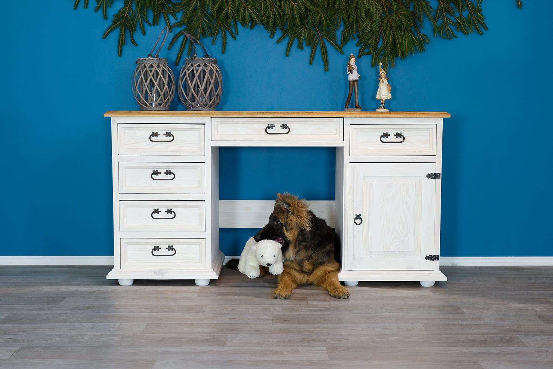 drewniane biurka białe meblo-wosk