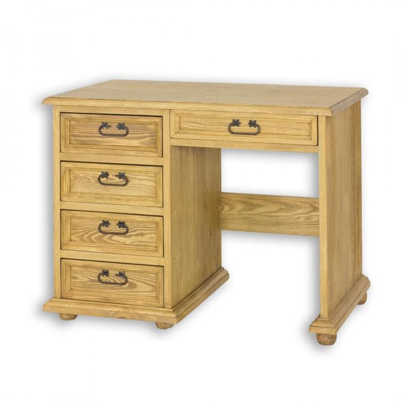Drewniane biurko z szufladami BIK02
