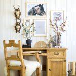 biurko w stylu rustykalnym