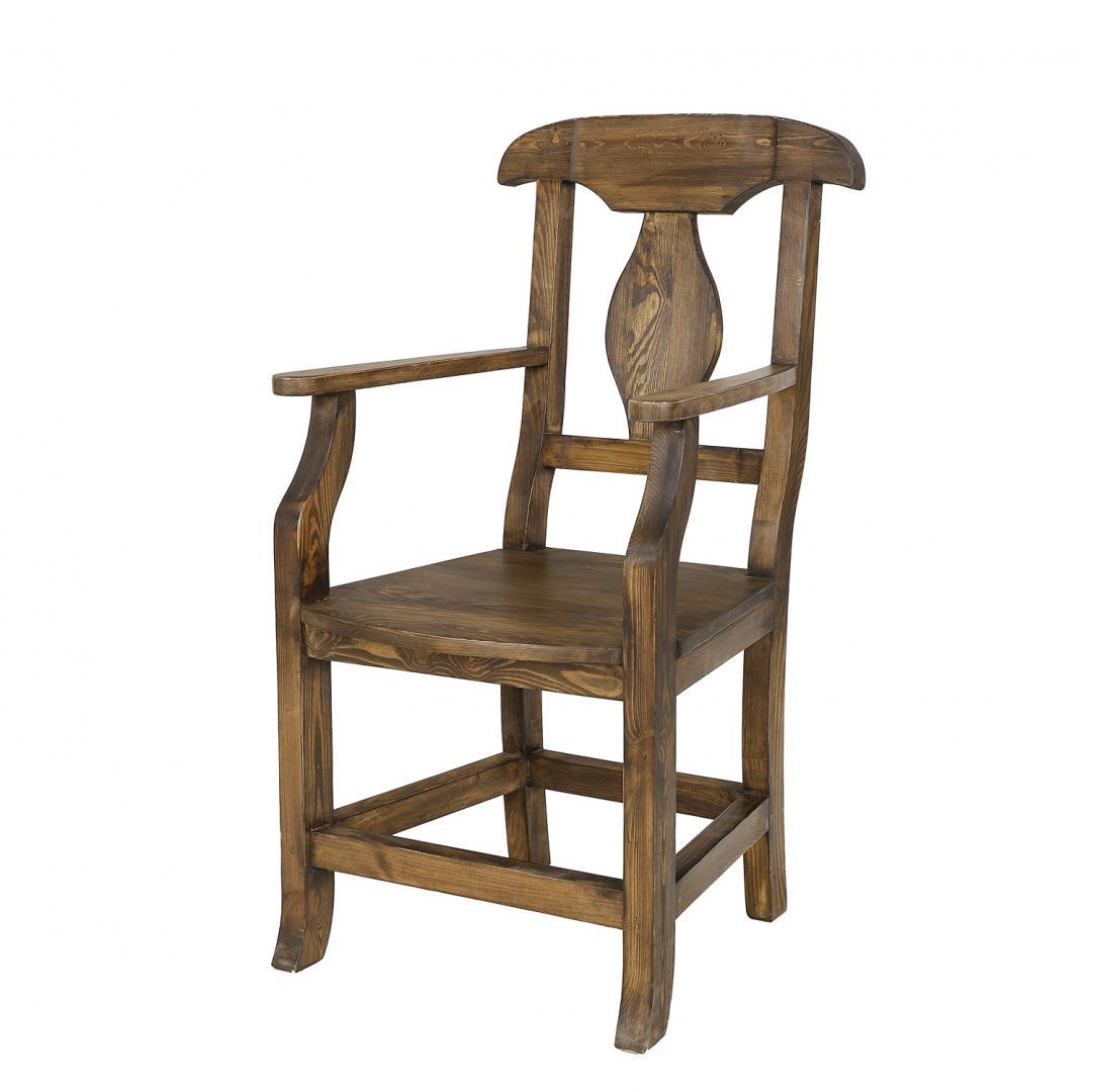fotel drewniany woskowany
