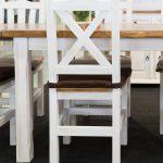 biale krzesla kuchenne retro