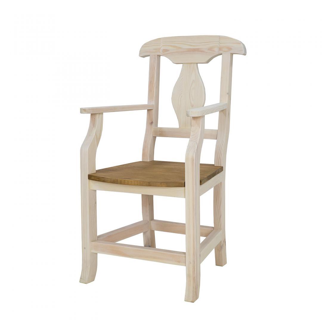 bialy fotel drewniany