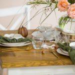 blat stołu z klepkami