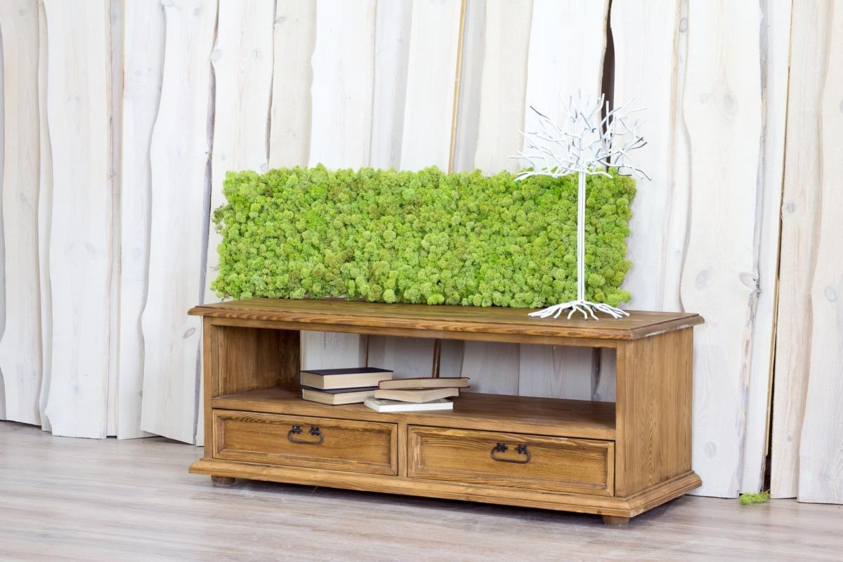 drewniana szafka rtv z szufladkami