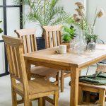 drewniane krzesla i stoly kuchenne