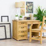 drewniany fotel biurowy retro