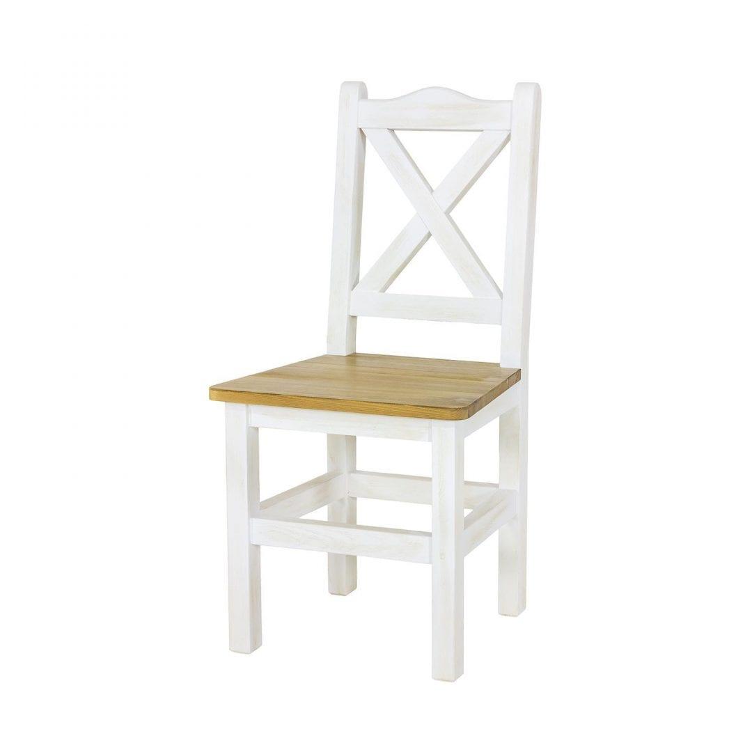 krzesło do kuchni biały wosk