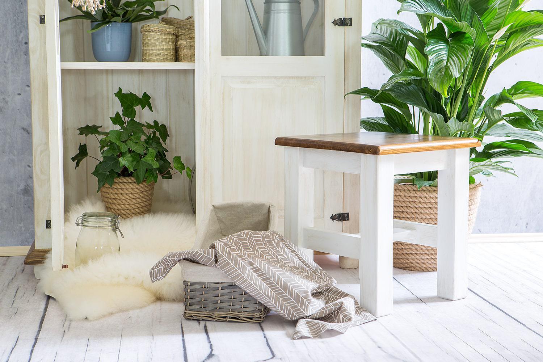 taboret kuchenny z litego drewna
