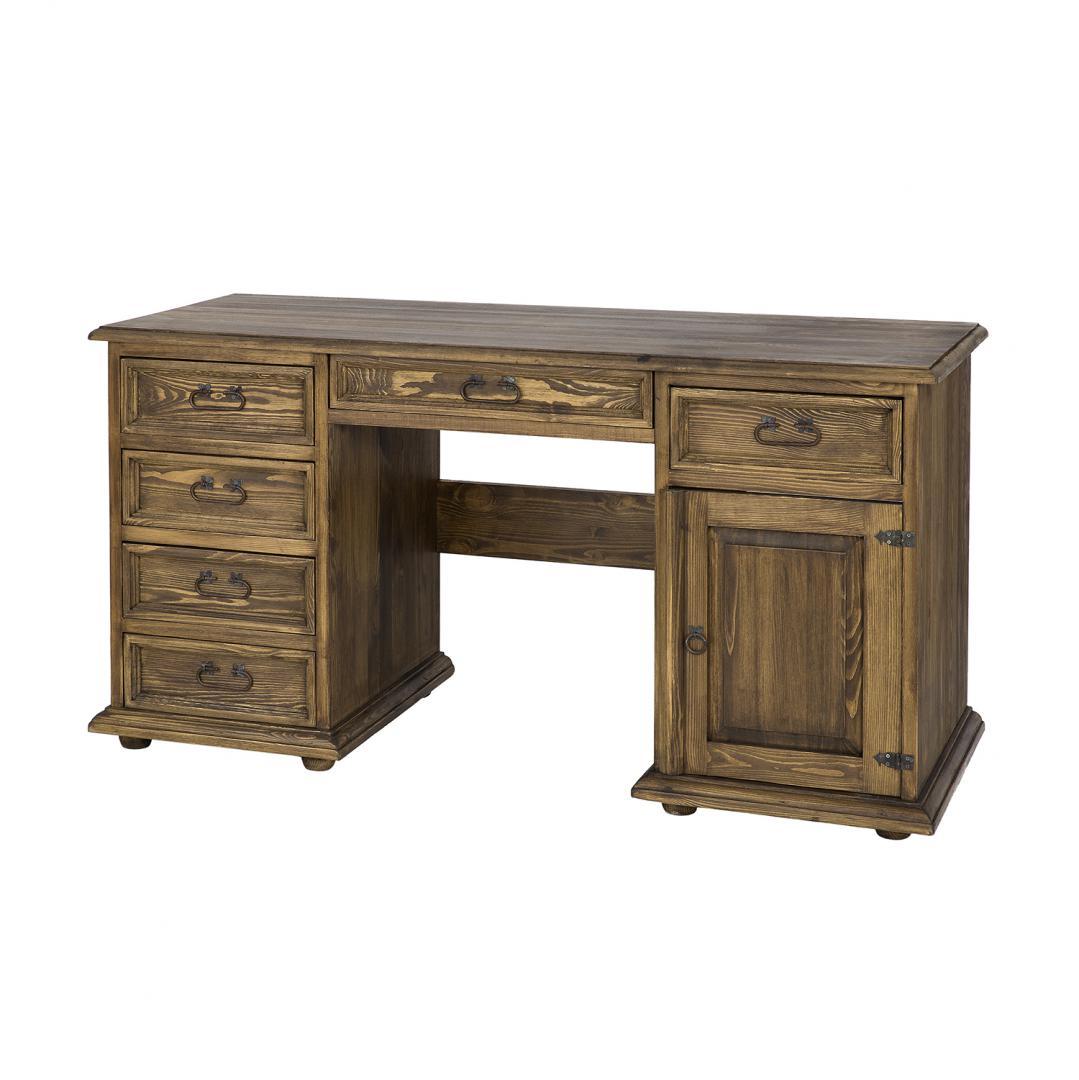 woskowane biurko z drewna litego