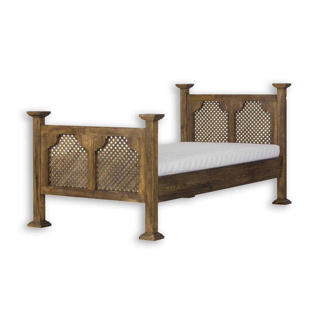 Łóżko pojedyncze z ażurem ACC08 - CARBONE