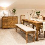 meble do salonu w stylu rustykalnym