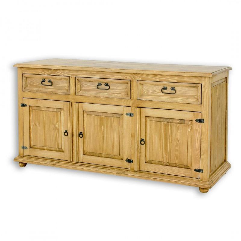 Drewniana komoda woskowana COM01