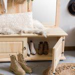 drewniana szafka na buty retro