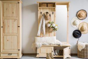 rustykalna woskowana garderoba sosnowa