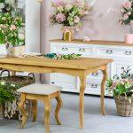 drewniany stol woskowany do jadalni 160x90