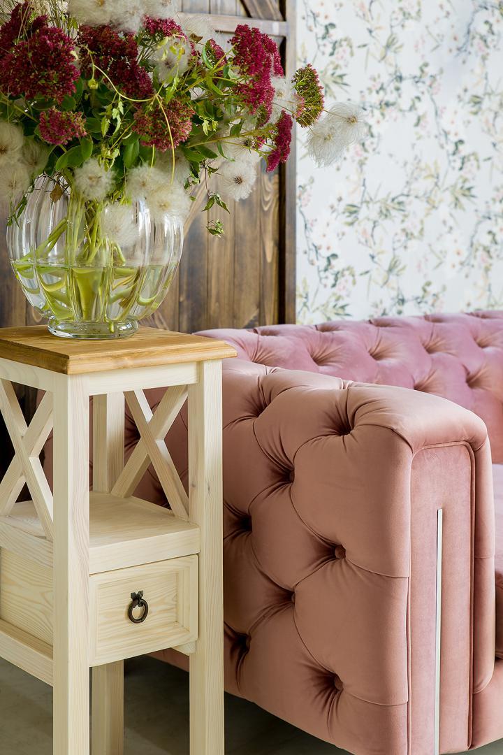 stolik szafka z litego drewna sosnowego