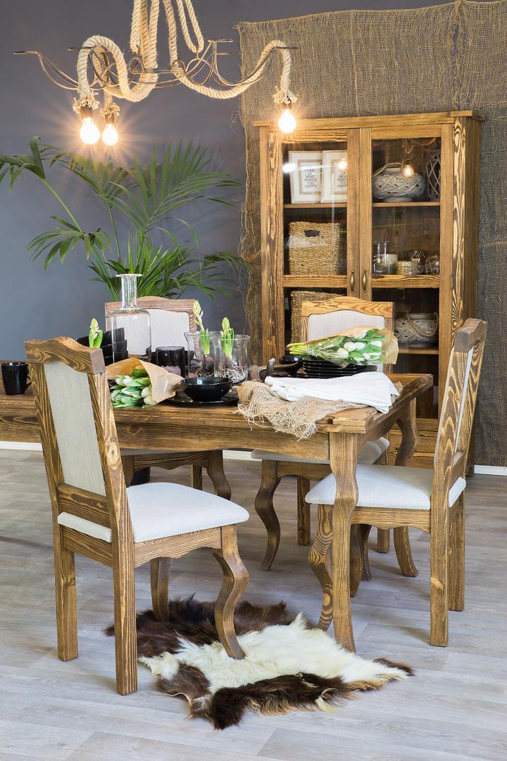stol drewniany do jadalni woskowany