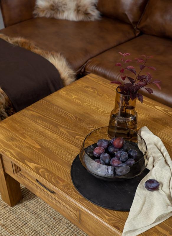 stolik kawowy sosnowy woskowany