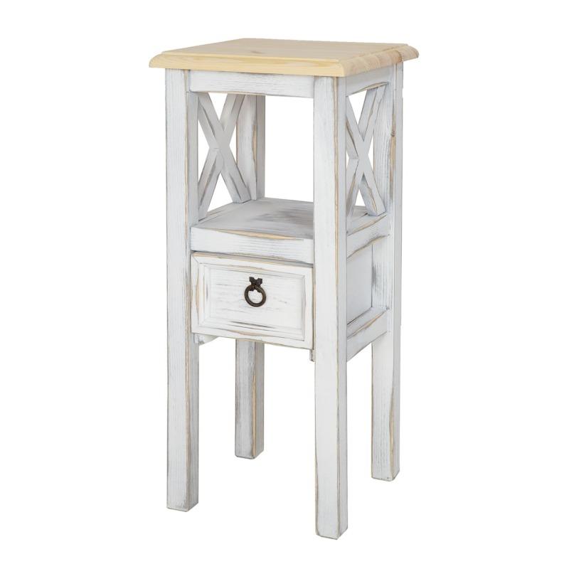 stolik kwietnik biel antyczna