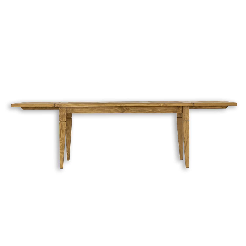 drewniany stol sosnowy z dostawkami