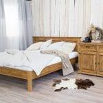 wygodne drewniane łóżka do sypialni