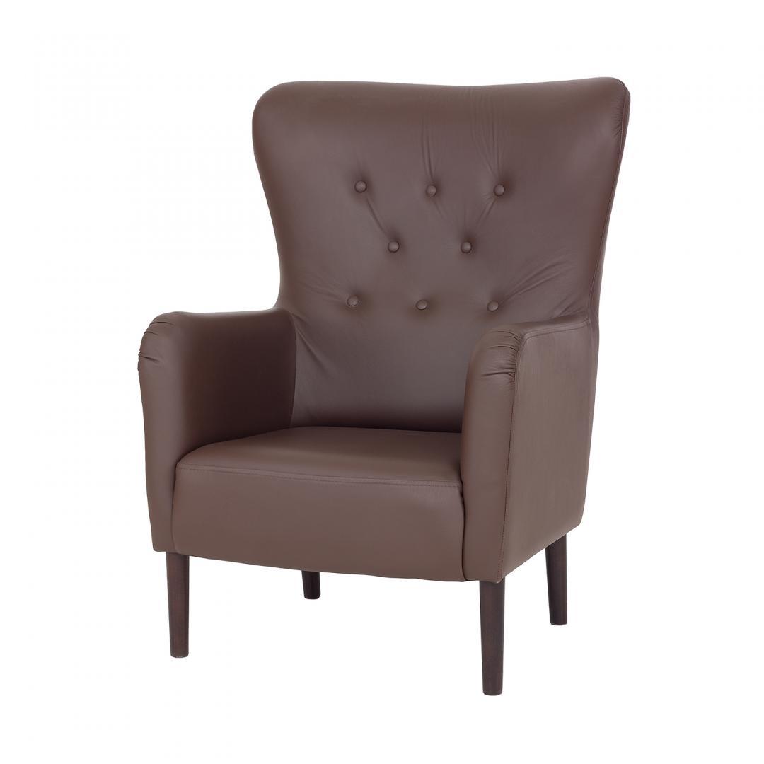 duży fotel tapicerowany