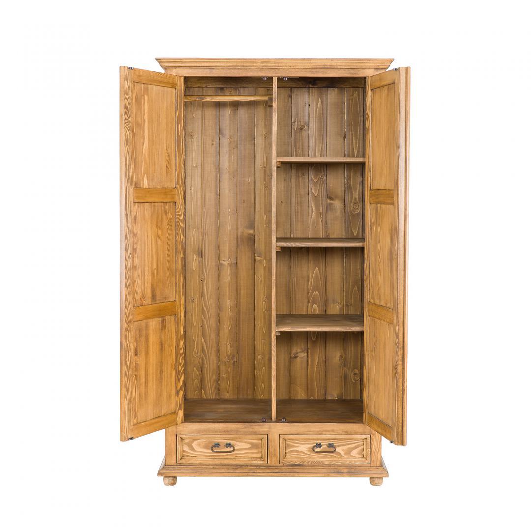 drewniana szafa woskowana