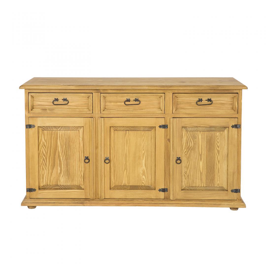 drewniana komoda woskowana do salonu
