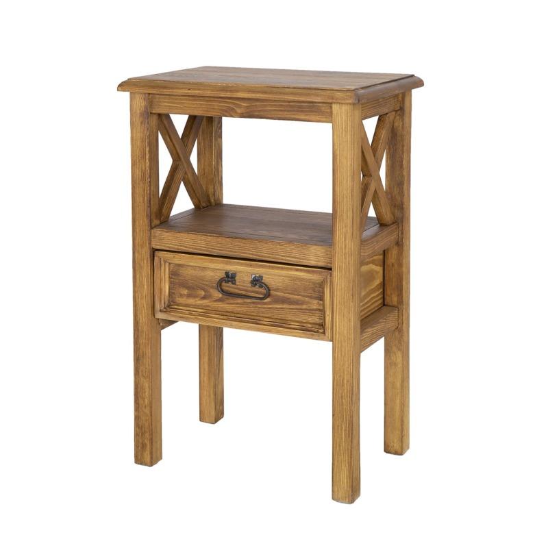 drewniany stolik z szufladką