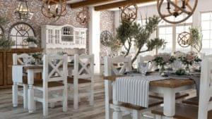stoły z krzesłami do restauracji