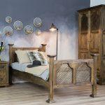 drewniane szafy w stylu retro