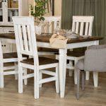 stół z krzesłami woskowane