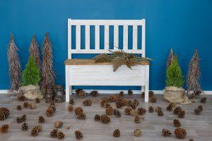 drewniana ławka sosnowa