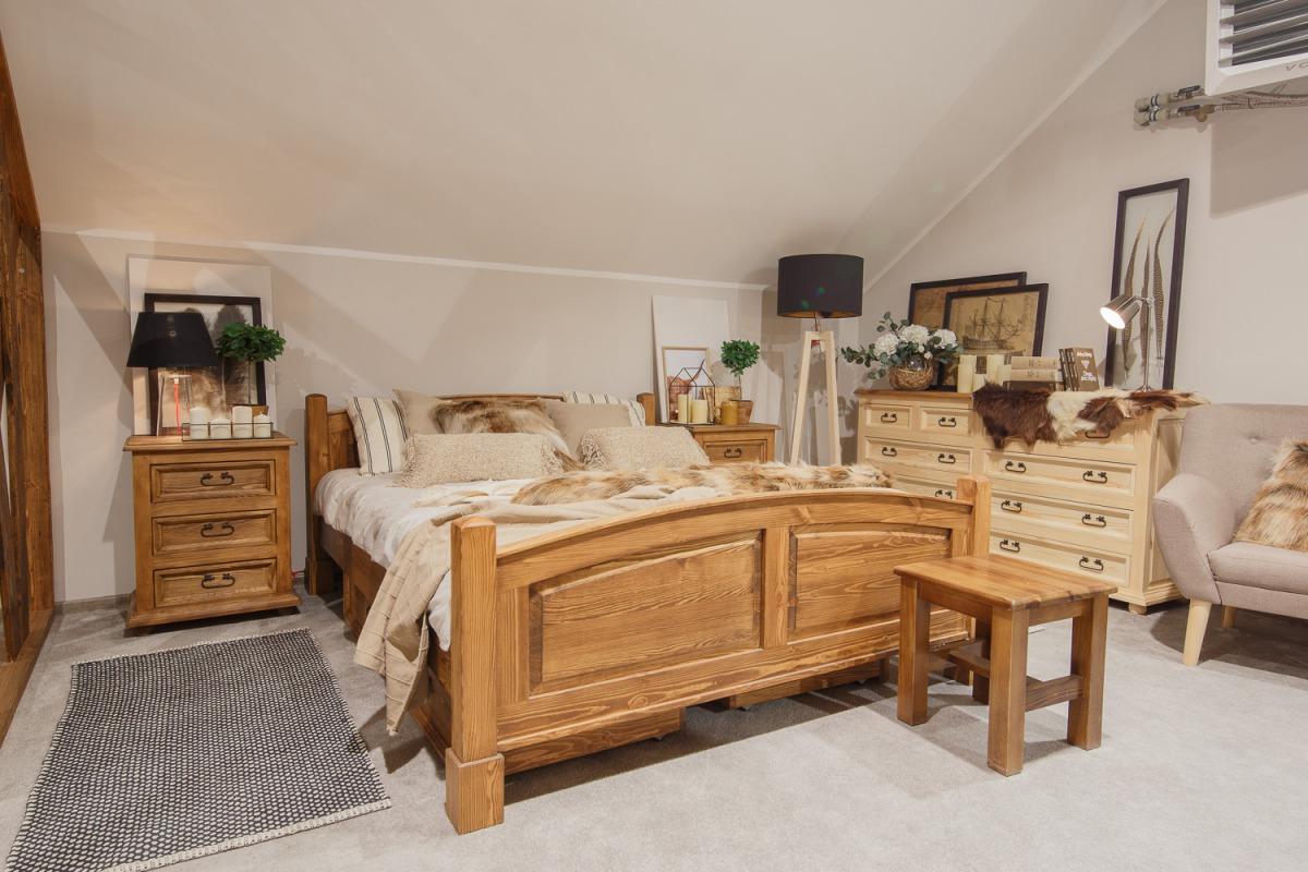 >>WYPRZEDAŻ<< Drewniane łóżko ACC05/140x200