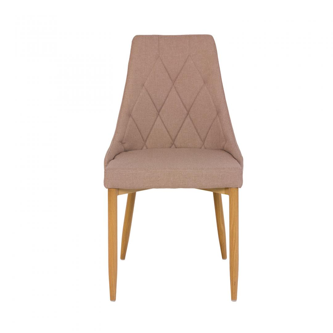 krzesło tapicerowane z drewnianymi nóżkami