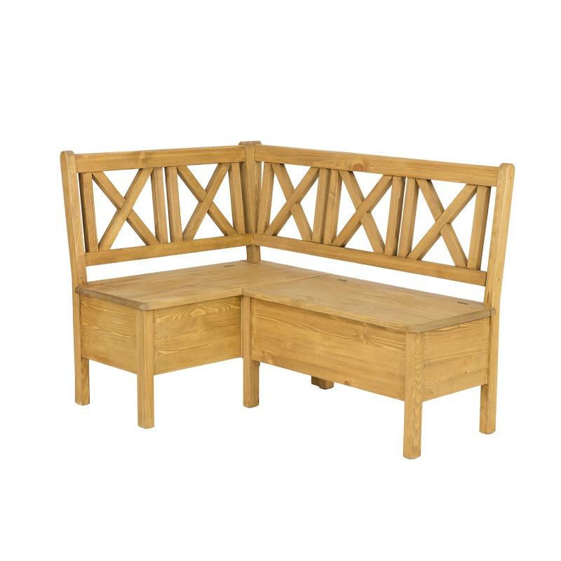 Drewniana ławka narożna SIL19A /L140 P220
