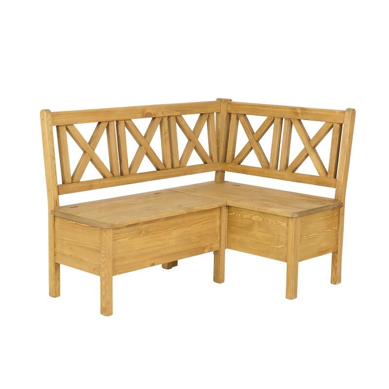 Drewniana ławka narożna SIL19A /L220 P140