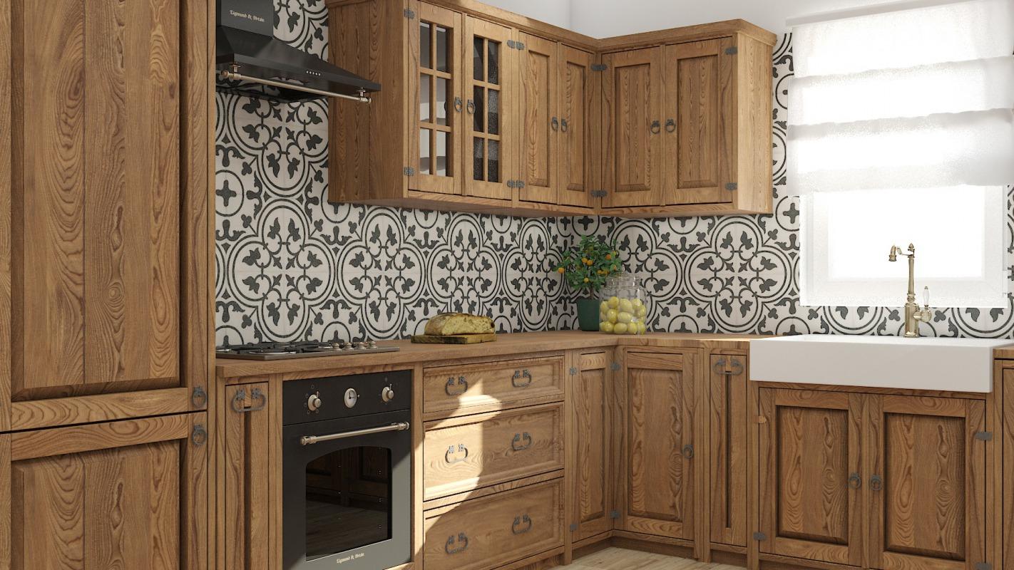 drewniana kuchnia na wymiar