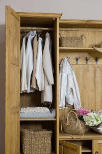 garderoba drewniana do przedpokoju