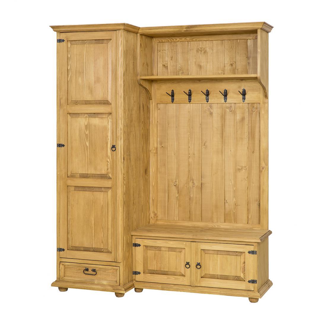 drewniana garderoba wieszak na ubrania