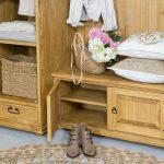 drewniana garderoba szafka na buty do przedpokoju