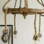 lampa koło w stylu country