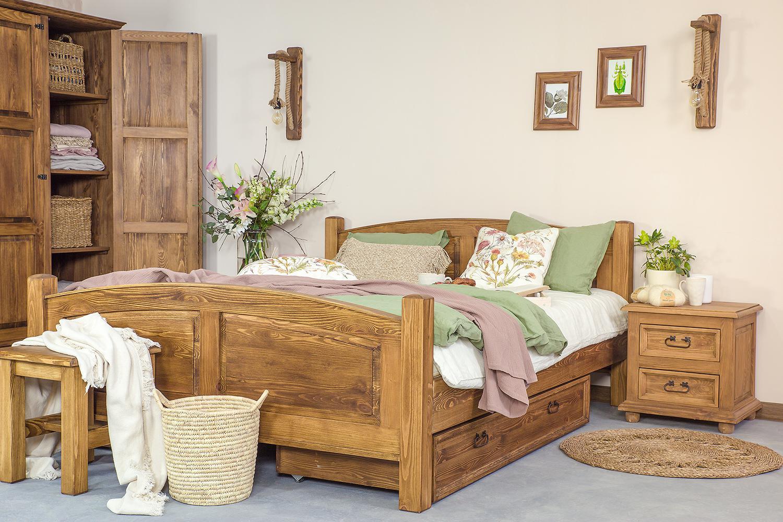 Łóżko drewniane ACC05 90x200 - WYPRZEDAŻ