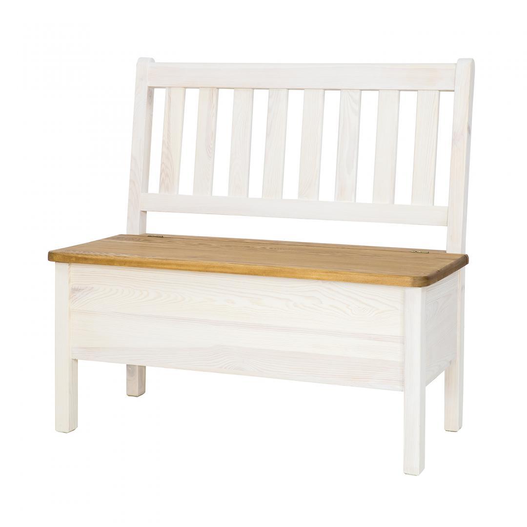 Drewniana ławka bielona SIL14/A