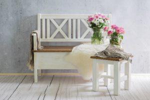 drewnian ławka do kuchni z litego drewna