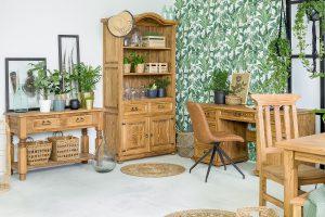 drewniane meble do gabinetu z litego drewna