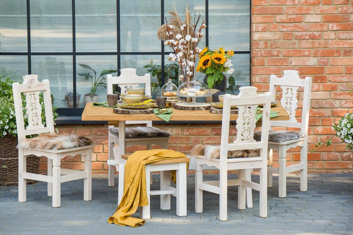 WYPRZEDAŻ Zestaw stół MES16 + krzesła SIL24