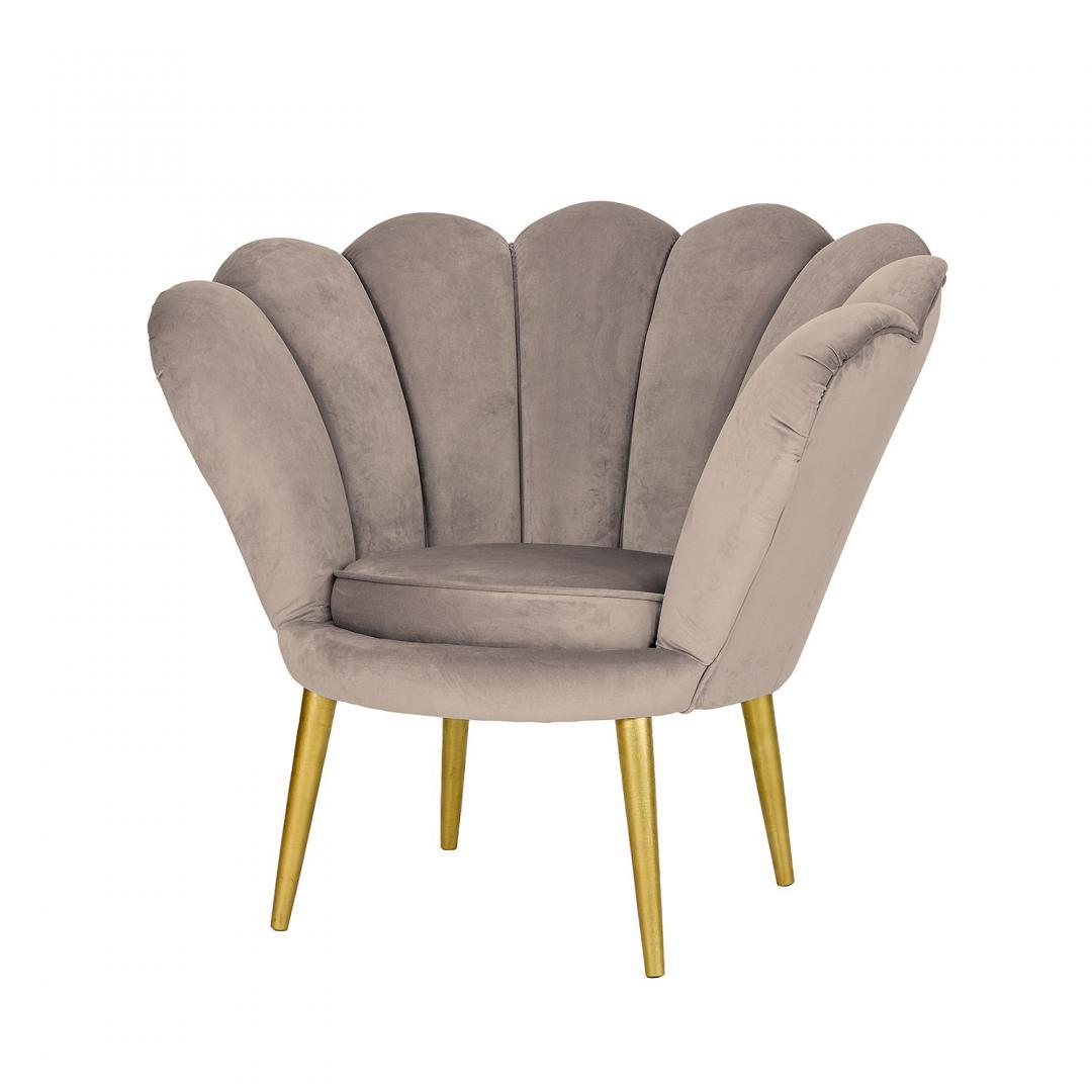 fotel rosalina bezowy welur