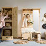 drewniane meble do przedpokoju
