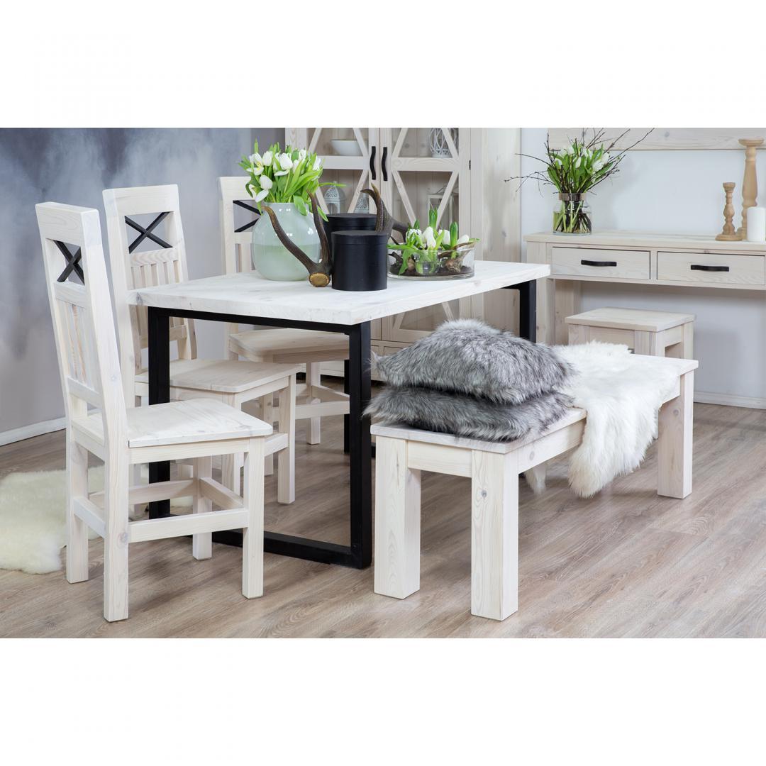 WYPRZEDAŻ Zestaw Stół SEL01 + Krzesła SEL15